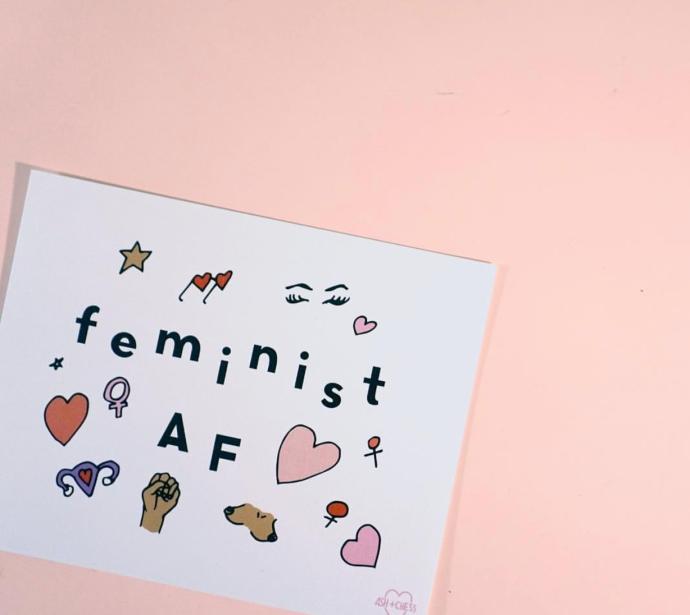 ash + chess feminist af card