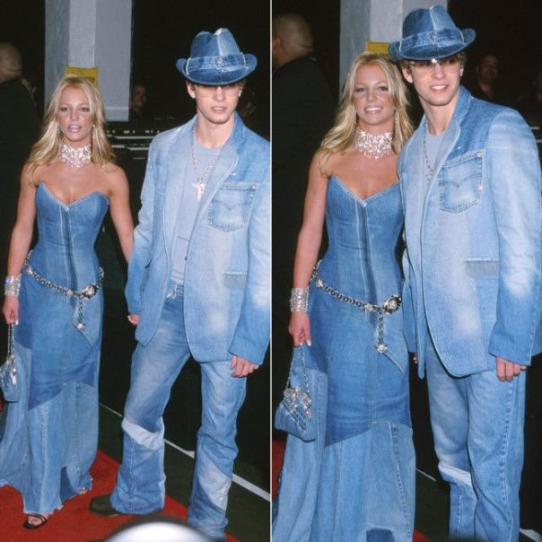 britney and justin denim on denim