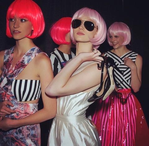 nwa fashion week pink wigs