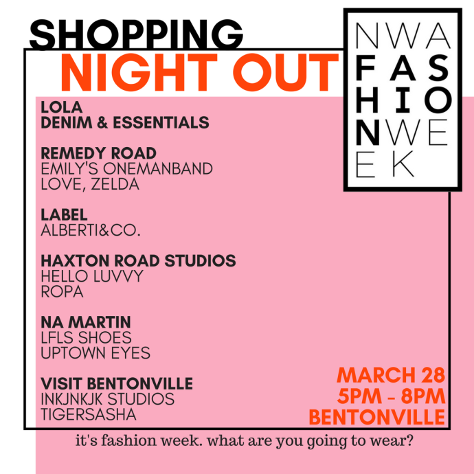 nwa fashion week shopping night out